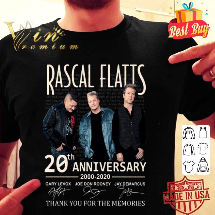 Rascal Flatts 20th anniversary 2000-2020 signed thank memories shirt