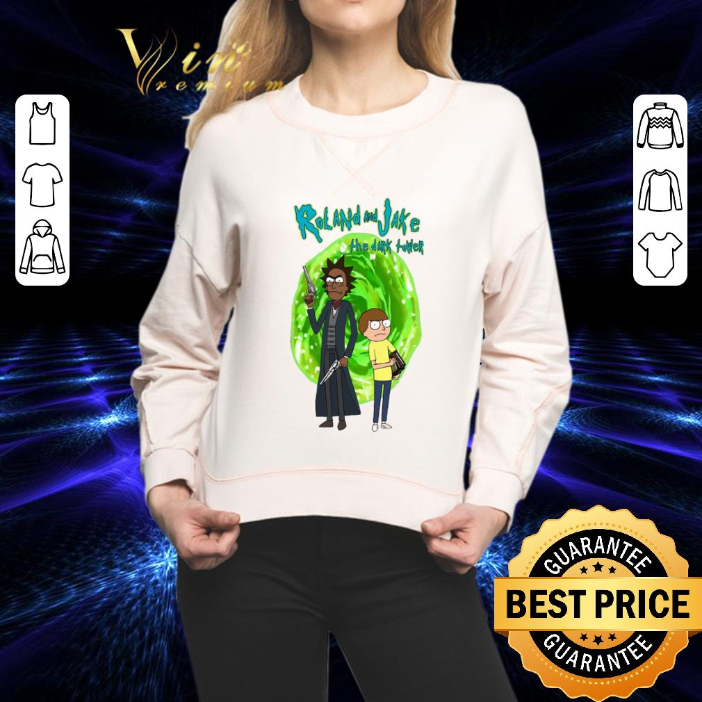 Rick and Morty Roll and Jake the dark tower shirt