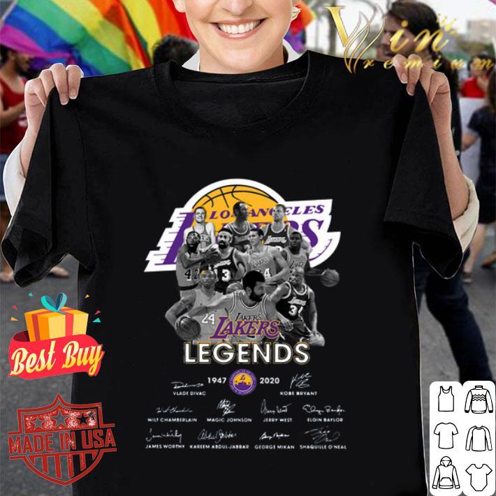 Rip Kobe Bryant Los Angeles Lakers Legends 1947 2020 Signatures shirt