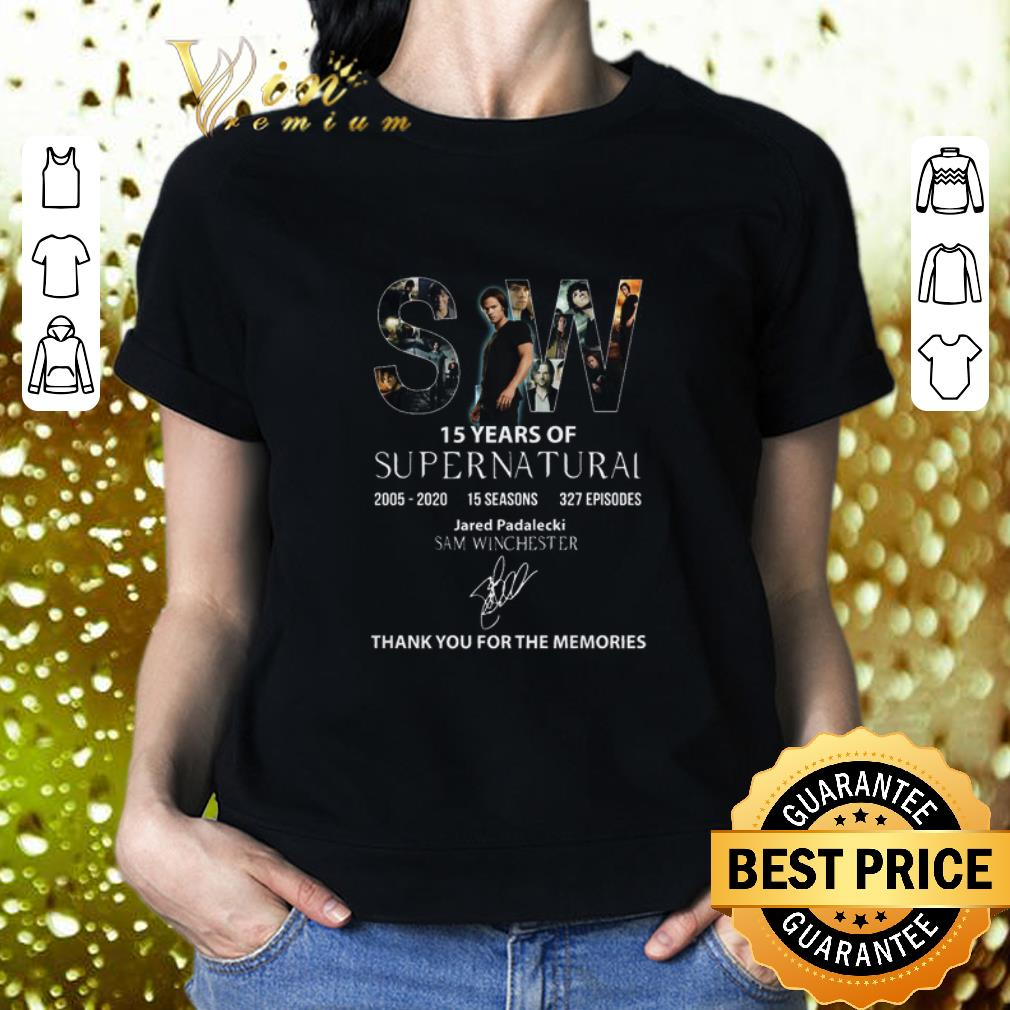 SW 15 Years Of Supernatural 2005 2020 Sam Winchester Signature shirt