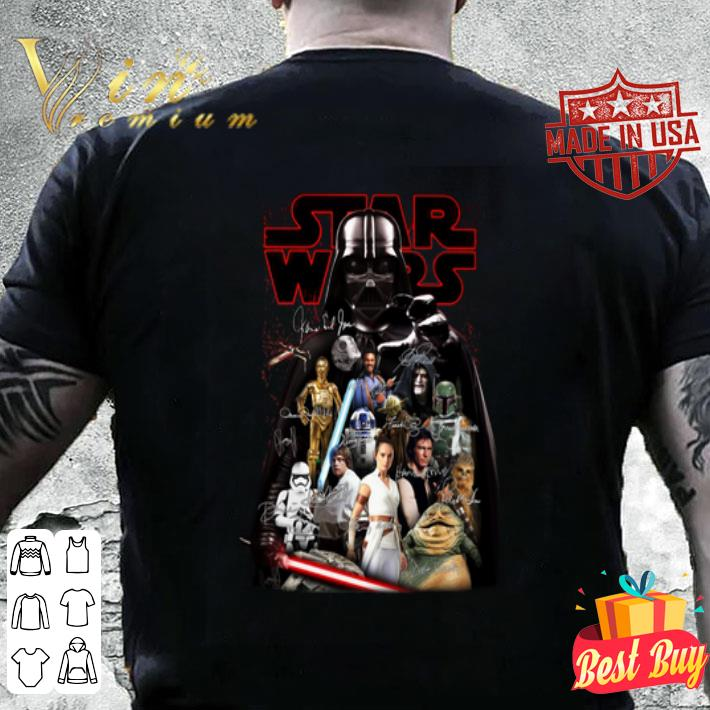 Star Wars characters Darth Vader autographed shirt