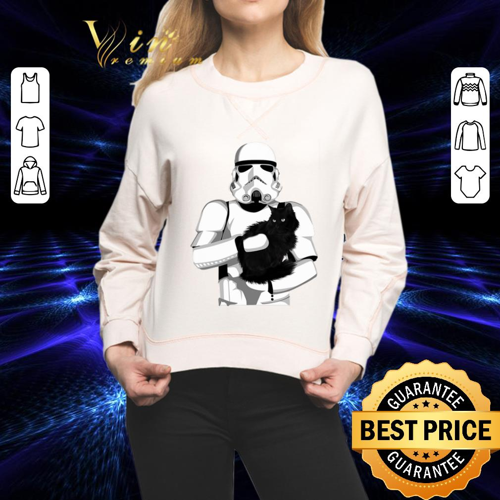 Stormtrooper hug black cat Star Wars shirt