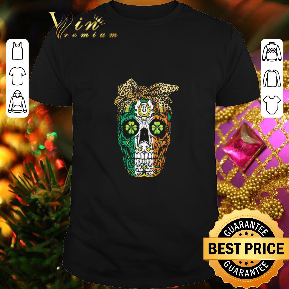 Sugar Skull Mom Cookies St Patrick's Day shirt