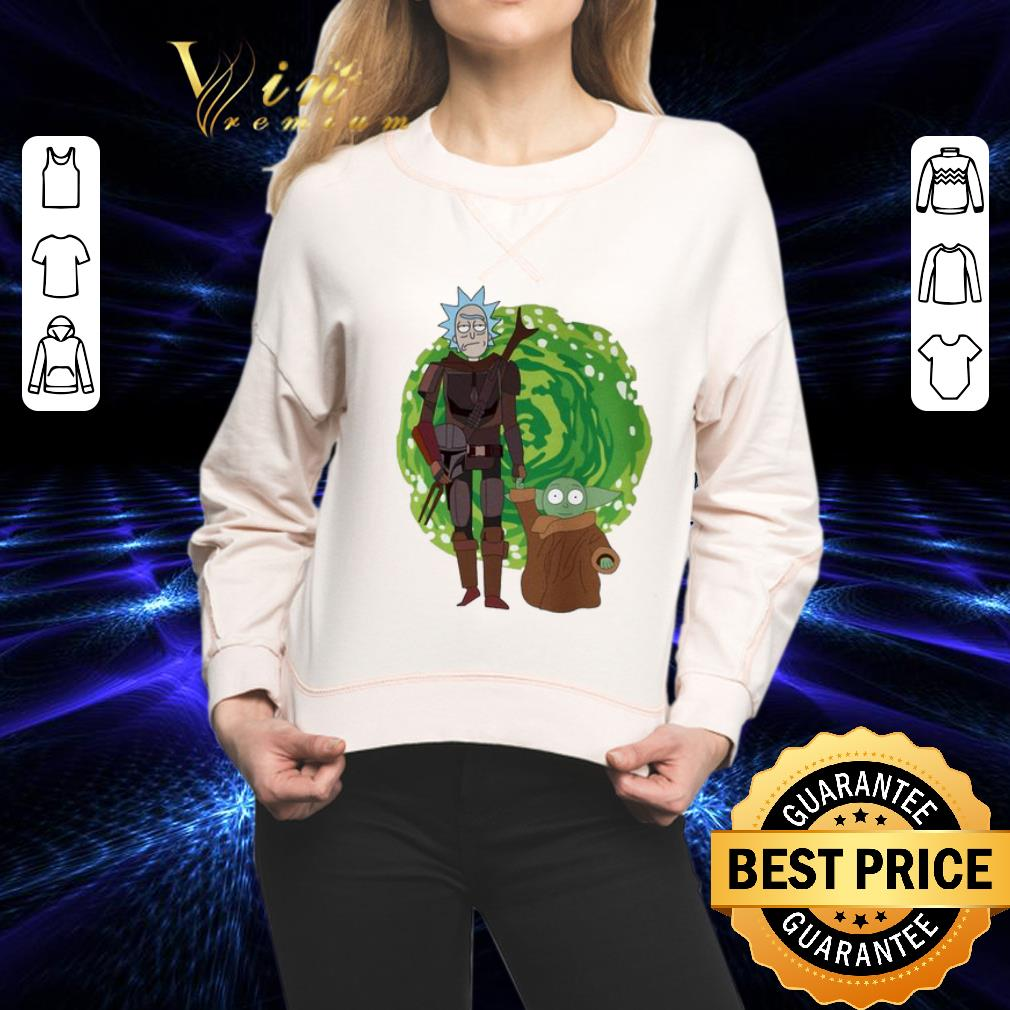 The Mandalorian and Baby Yoda Crossover Rick and Morty The Child shirt