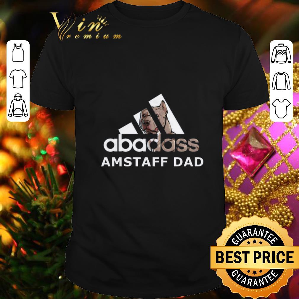 adidas abadass AMSTAFF DAD Pitbull Bulldog shirt