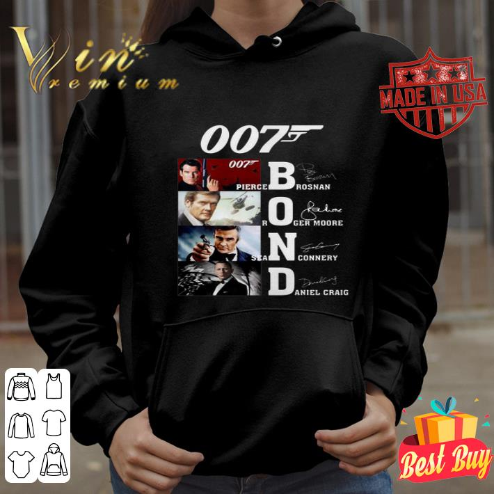 007 James Bond Pierce Brosnan Roger Moore Sean Connery signature shirt
