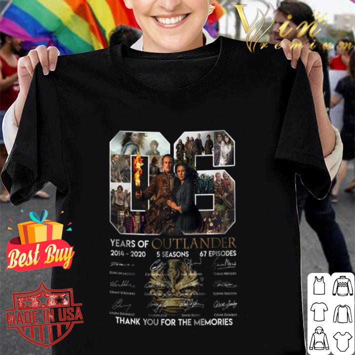 06 years of Outlander 2014 2020 signature thank you for memories shirt