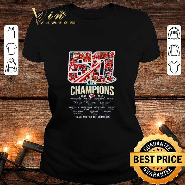 50 years Kansas City Chiefs Champions 1969-2019 signatures thank you for the memories shirt