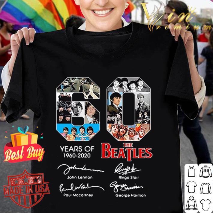60 Years of The Beatles 1960-2020 signature shirt