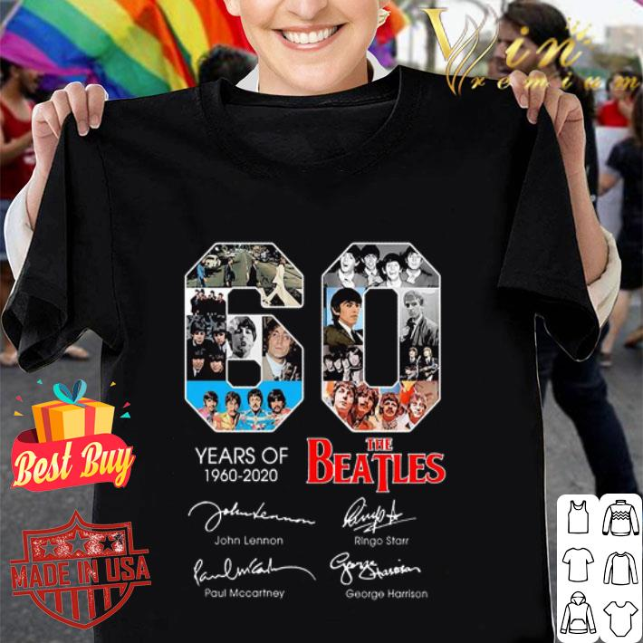 60 years of The Beatles 1960 2020 signatures autographed shirt