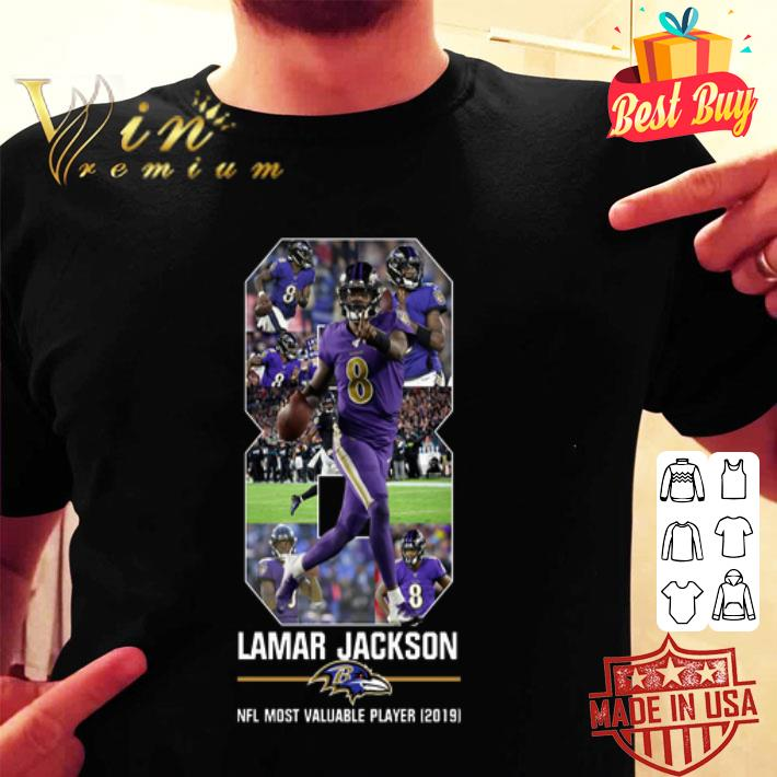8 Lamar Jackson NFL Most valuable player 2019 Baltimore Ravens shirt