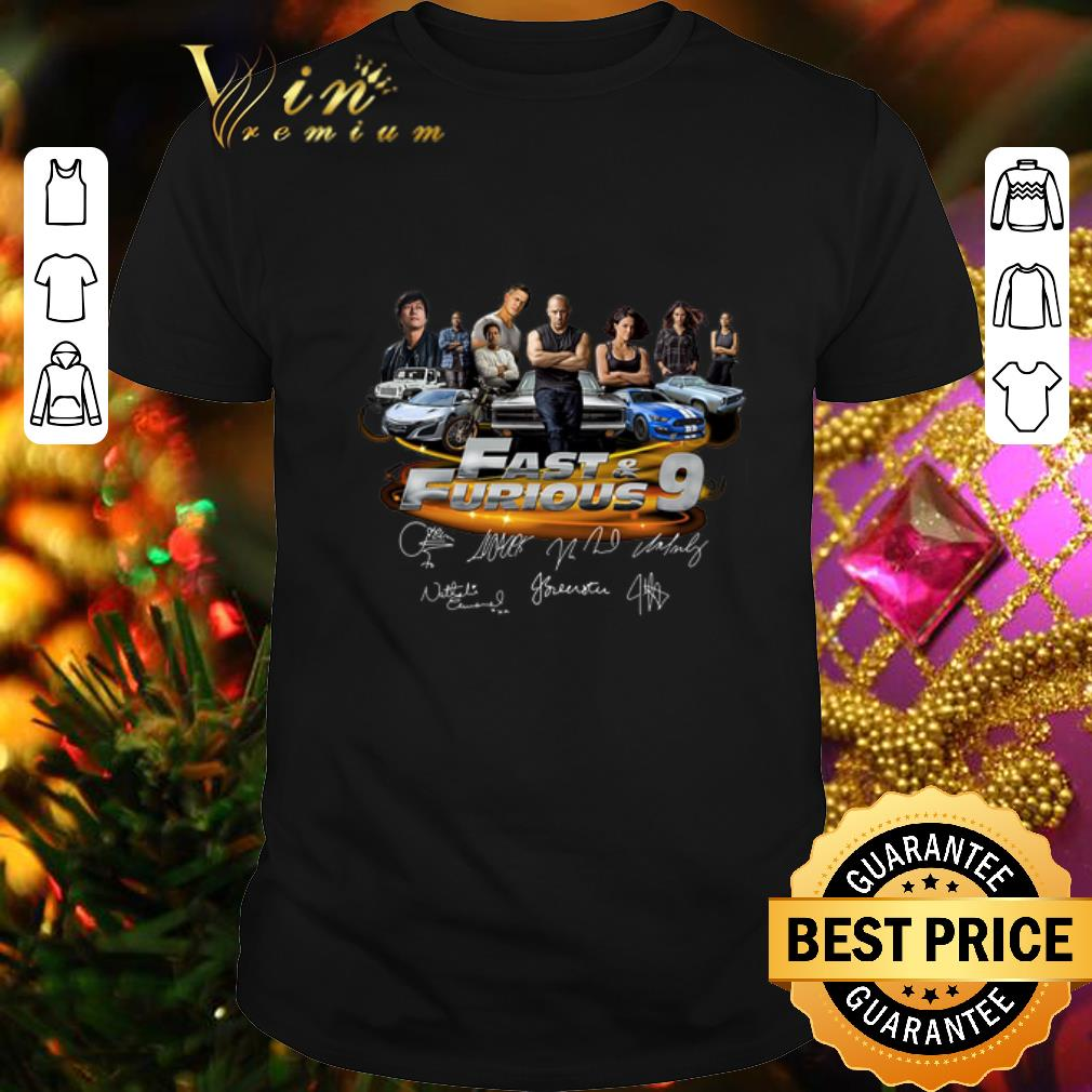 All character Fast & Furious 9 Signatures shirt