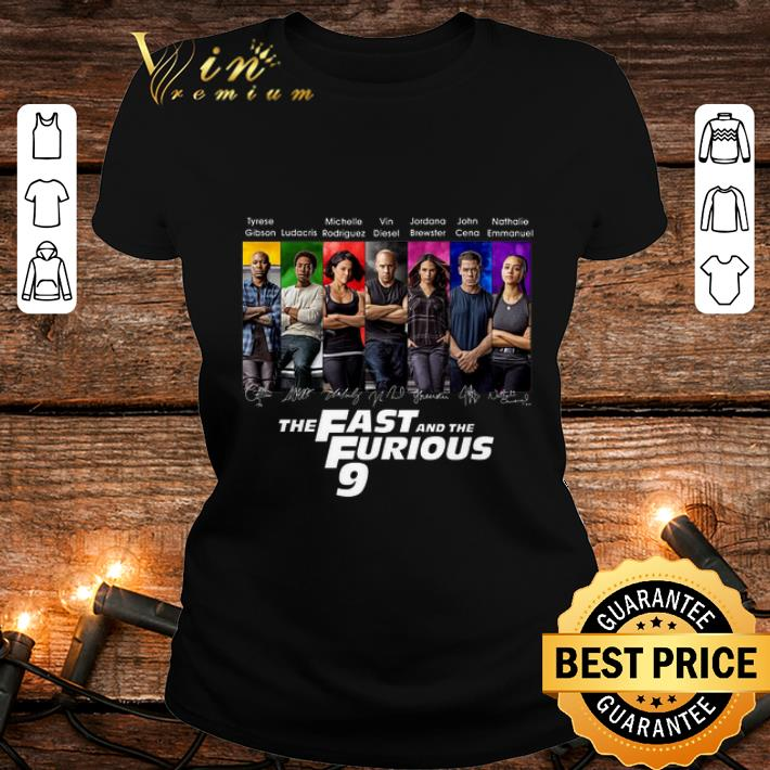 All character signatures The Fast And The Furious 9 shirt