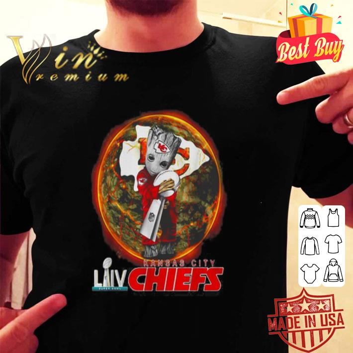 Baby Groot hug Cup NFL LIV Kansas City Chiefs Champions shirt