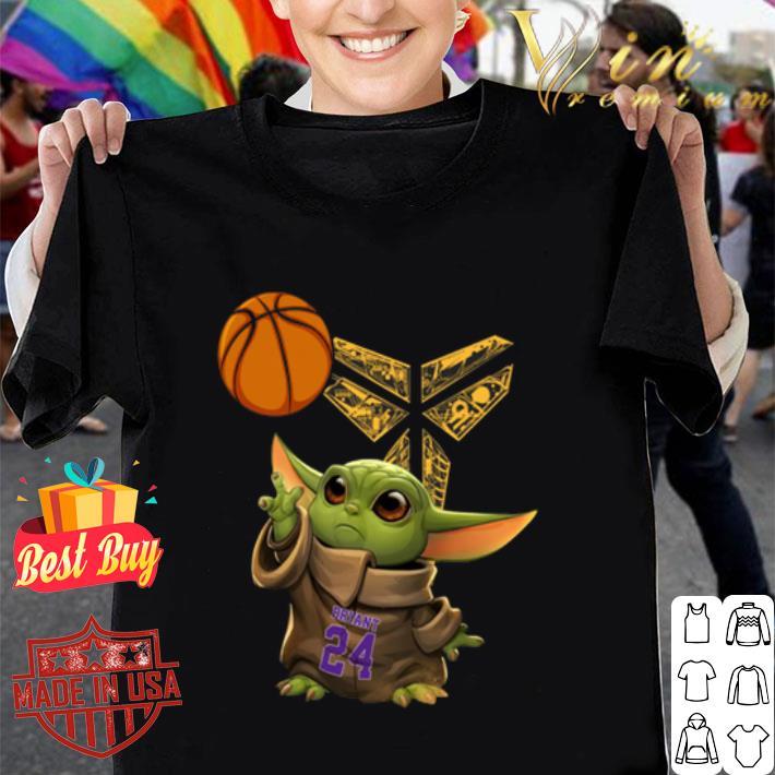 Baby Yoda 24 Kobe Bryant basketball Logo shirt