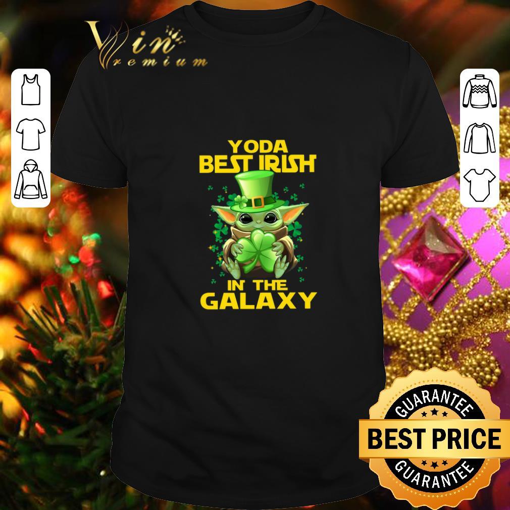 Clickbuypro Unisex Tshirt Baby Yoda Best Irish In The Galaxy St Patricks Day Shirt Sweater Black L
