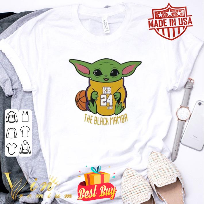 Baby Yoda Kobe Bryant The Black Mamba shirt