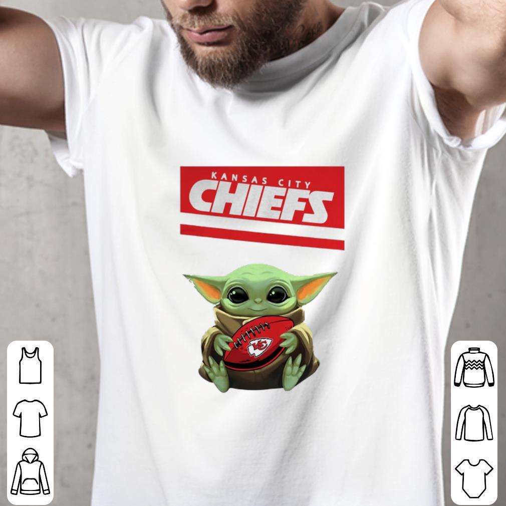 Baby Yoda hug Kansas City Chiefs Ball Logo Star Wars shirt ...