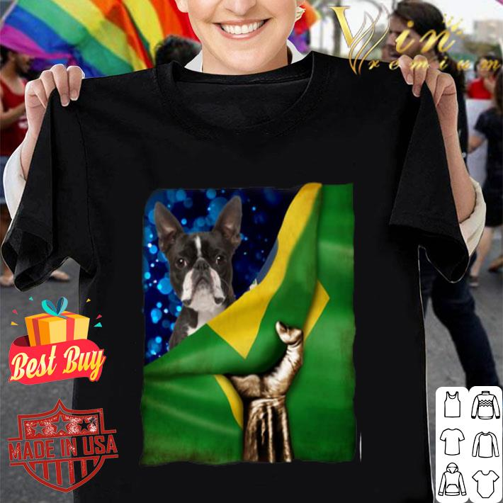 Bandeira do Brasil Boston Terrier shirt