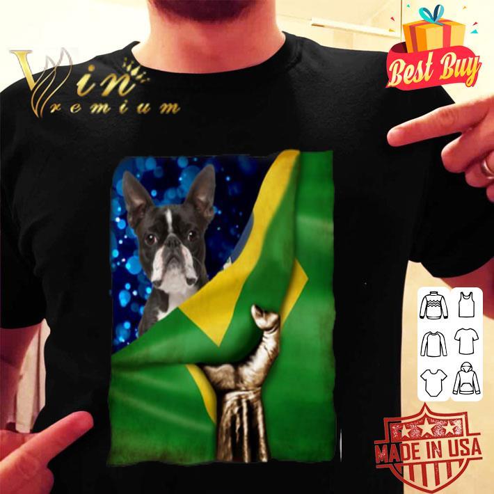 Bandeira do Brasil Boston Terrier shirt
