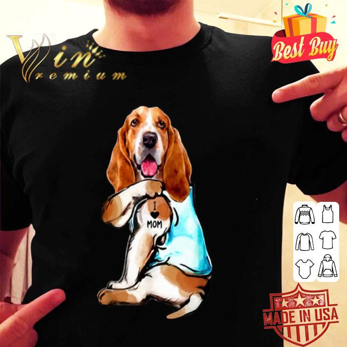 Basset Hound Tattoo I Love Mom shirt