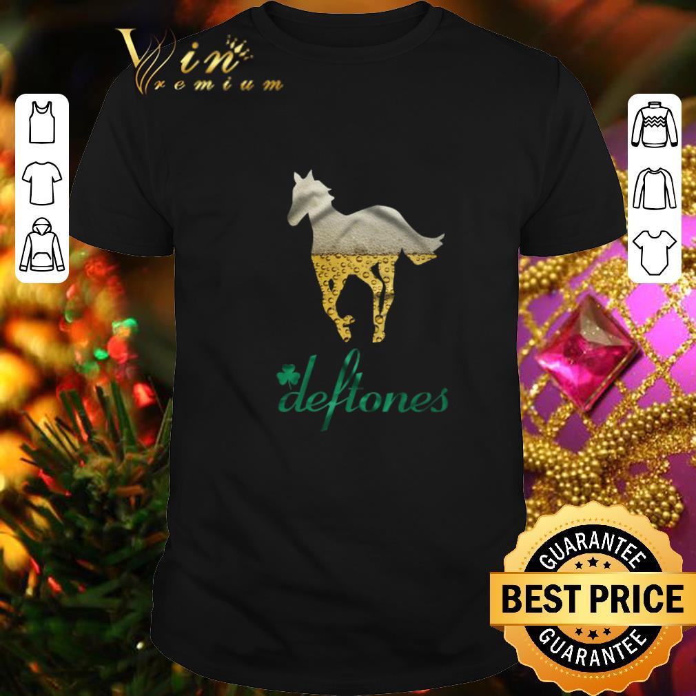 Clickbuypro Unisex T-shirt Beer Horse Mashup Deftones St Patricks Day Shirt T-shirt Black S