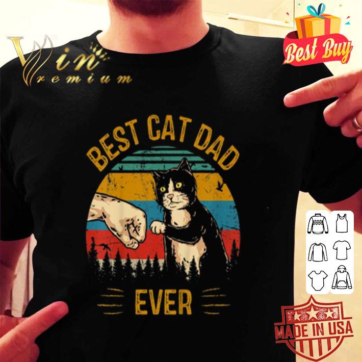 Best Cat Dad Ever Paw Fist Bump Fit Vintage shirt