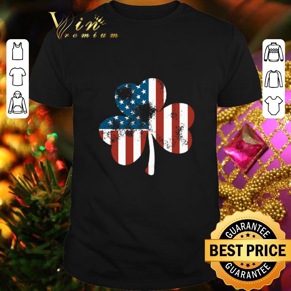 Clickbuypro Unisex T-shirt Clover St Patricks Day Shamrocks Irish American Flag Shirt Sweater Forest Green 3xl