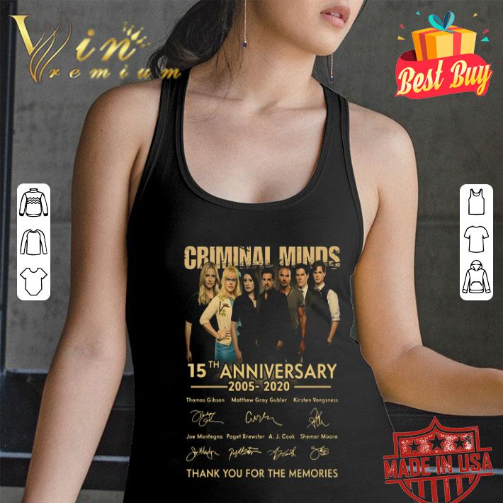 Criminal Minds 15th anniversary 2005 2020 signatures thank you for the memories shirt