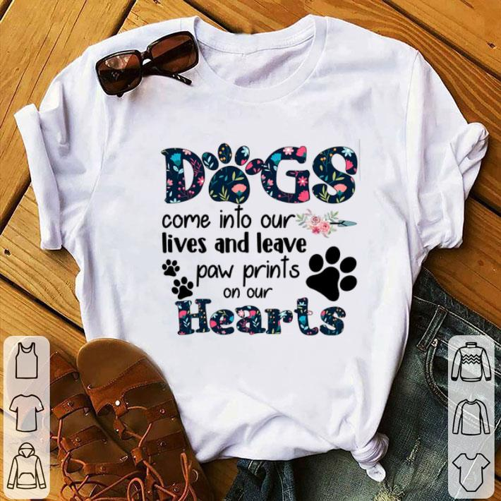 Clickbuypro Unisex Tshirt Dogs Come Into Our Lives And Leave Paw Prints On Our Hearts Shirt Hoodie Navy 4xl