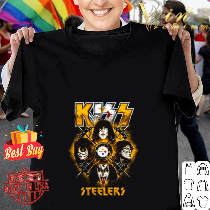 Kiss mashup Pittsburgh Steelers Logo shirt