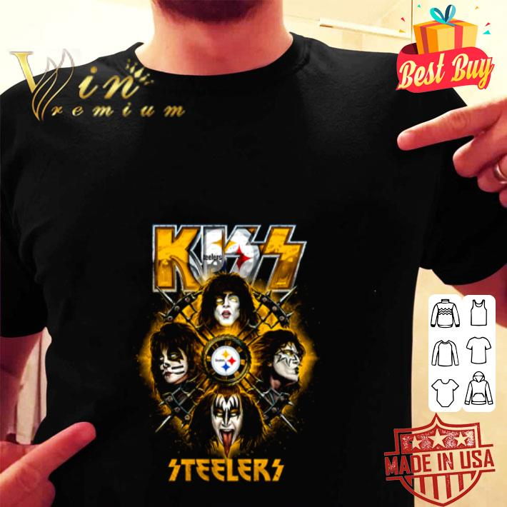 Kiss mashup Pittsburgh Steelers Logo shirt
