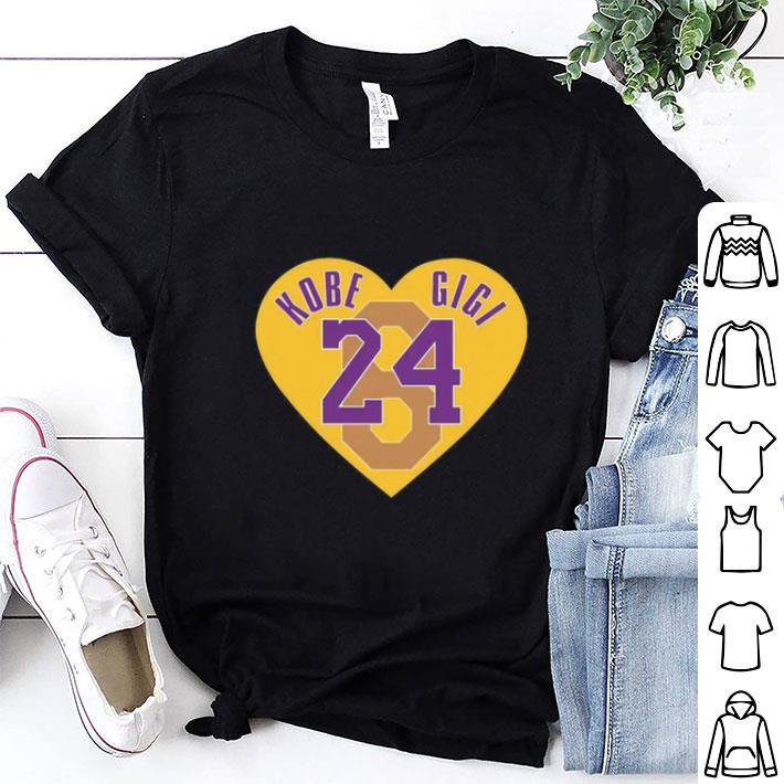 Clickbuypro Unisex Tshirt Kobe Bryant Love Kobe Gigi 824 Heart Shirt Hoodie Black Xl