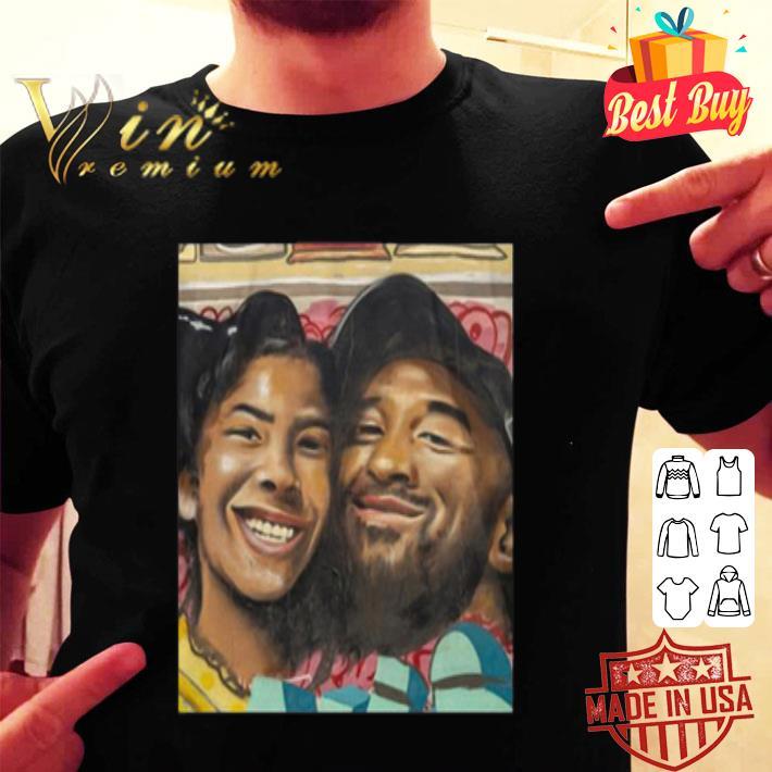 Kobe Bryant and Gigi Bryant Cartoon Family Love shirt