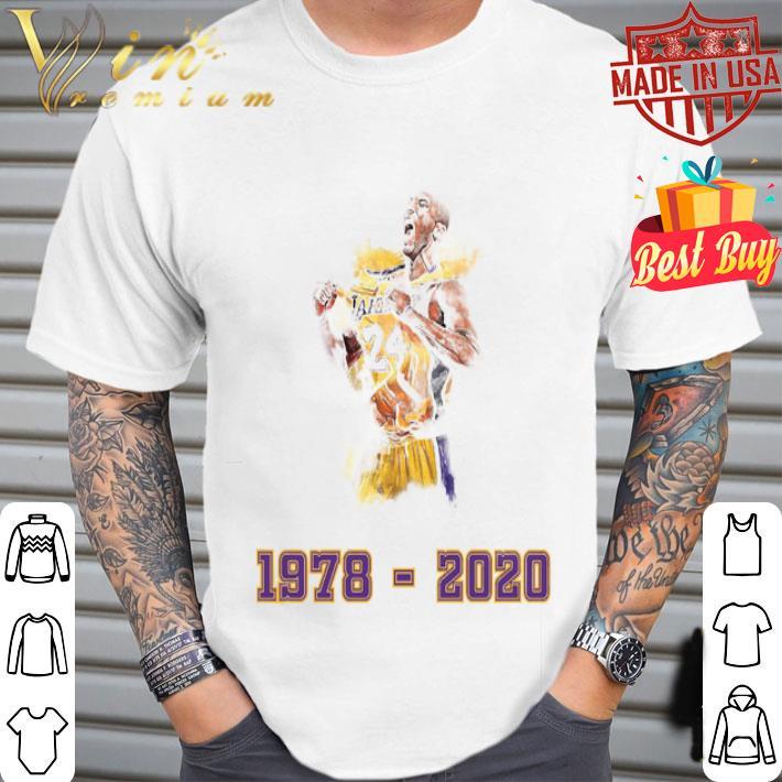 Lakers 24 Kobe Bryant 1978 - 2020 Los Angeles Lakers shirt