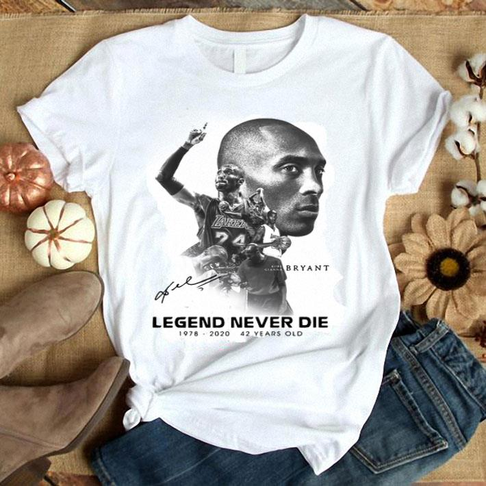 Clickbuypro Unisex Tshirt Legends Never Die Kobe Bryant 42 Years Old Shirt Hoodie White 4xl
