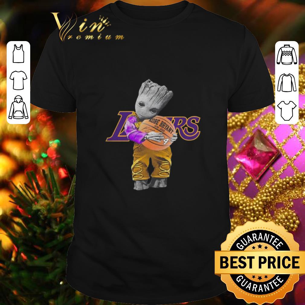 Los Angeles Lakers Baby Groot Hug ball Kobe Bryant Signature shirt