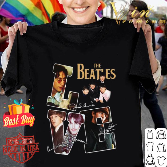Love The Beatles signatures autographed shirt