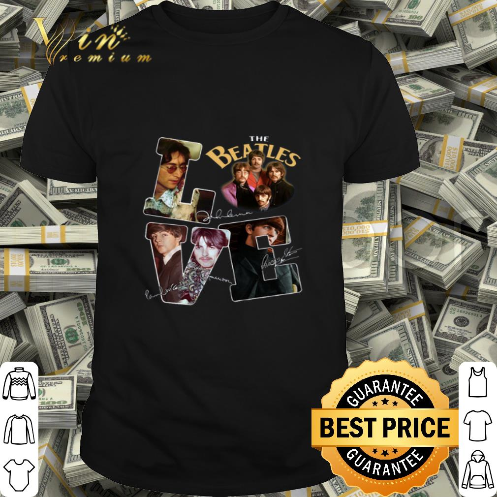 Love The Beatles signatures shirt