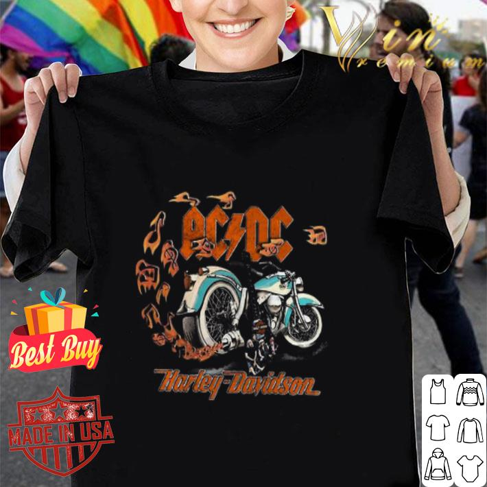 Motorcycle guitar ACDC Harley Davidson shirt