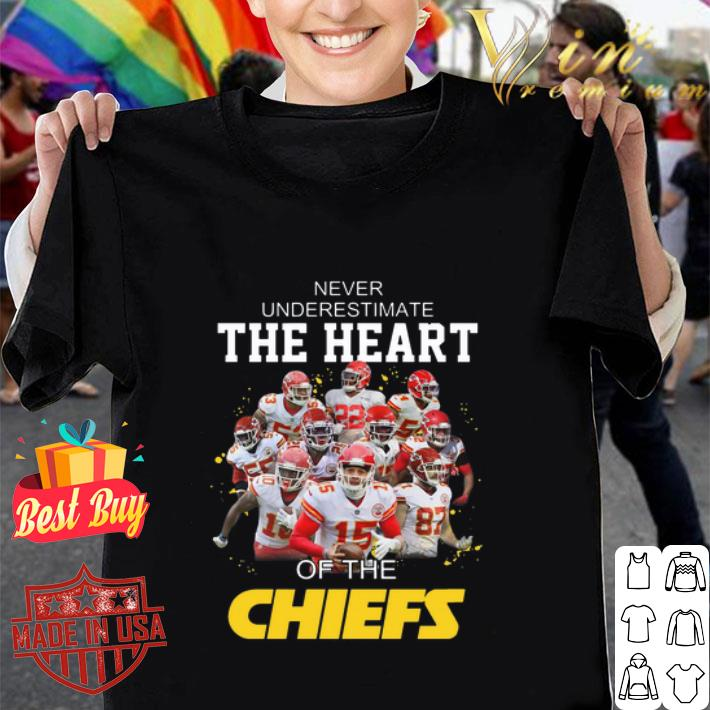 Never Underestimate The Heart Of The Kansas City Chiefs shirt