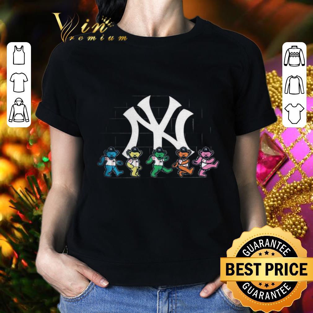 New York Yankees Grateful Dead Logo Bear Stealie shirt