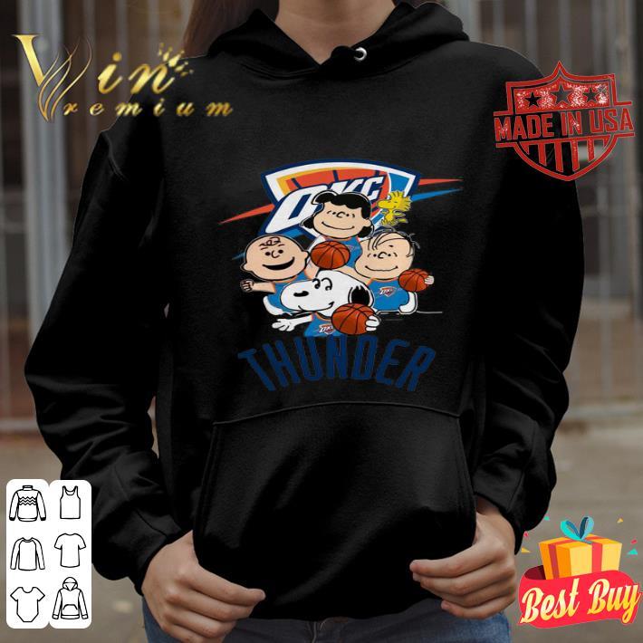 Peanut characters mashup Oklahoma City Thunder shirt