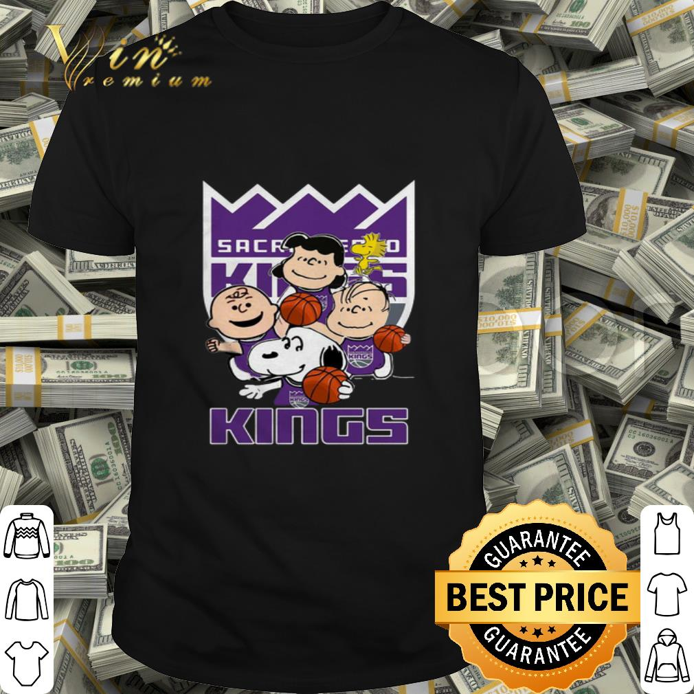 Peanuts characters Sacramento Kings logo shirt