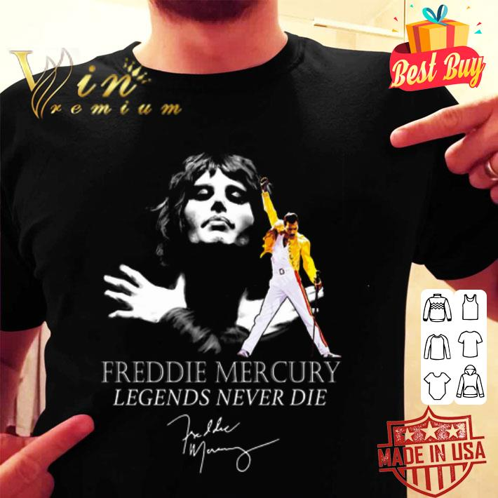 Queen Freddie Mercury Legends never die signature shirt