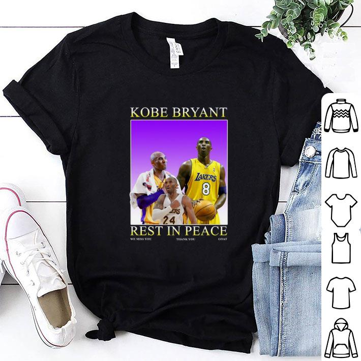 Clickbuypro Unisex T-shirt Rip Kobe Bryant Rest In Peace We Miss You Thank You Goat Lakers Shirt Hoodie Red L