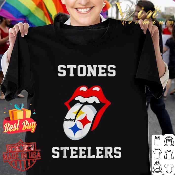 Rolling Stones Logo Pittsburgh Steelers shirt