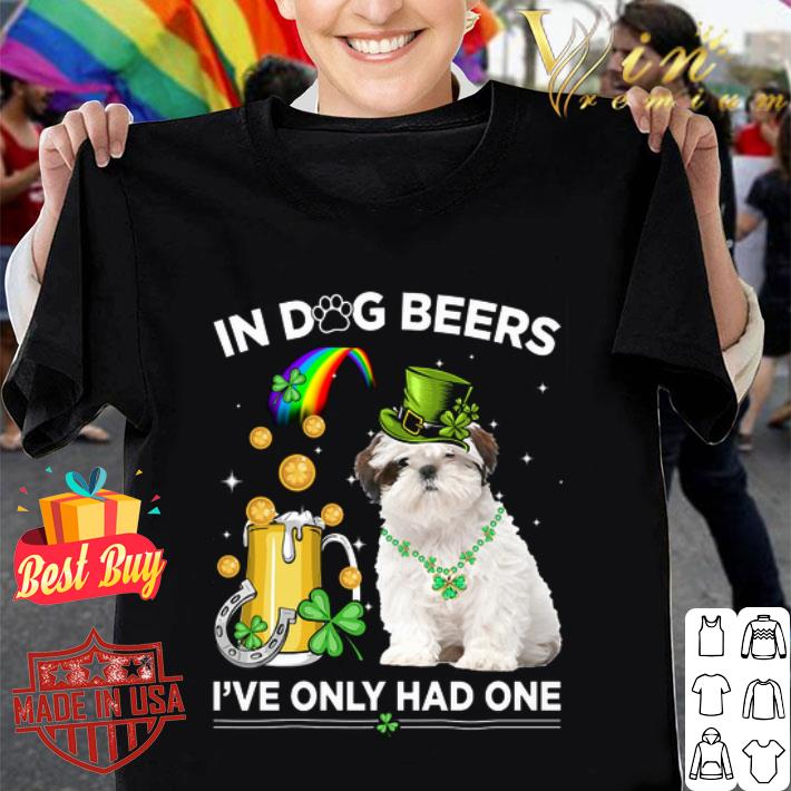Clickbuypro Unisex Tshirt Shih Tzu In Dog Beers Ive Only Had One St Patricks Day Shirt Hoodie Blue M