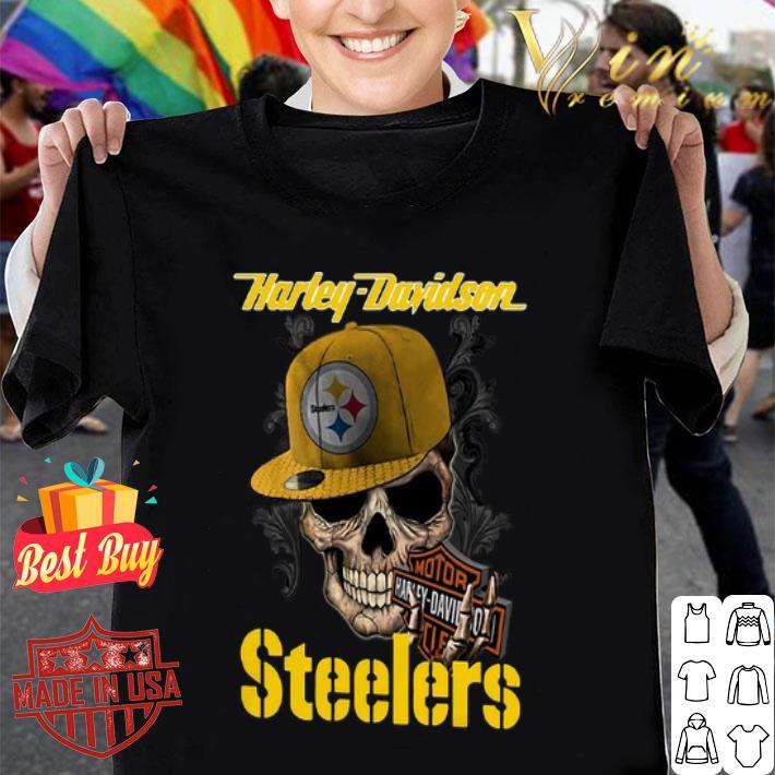 Skull Motor Harley Davidson Cycles Pittsburgh Steelers Logo shirt