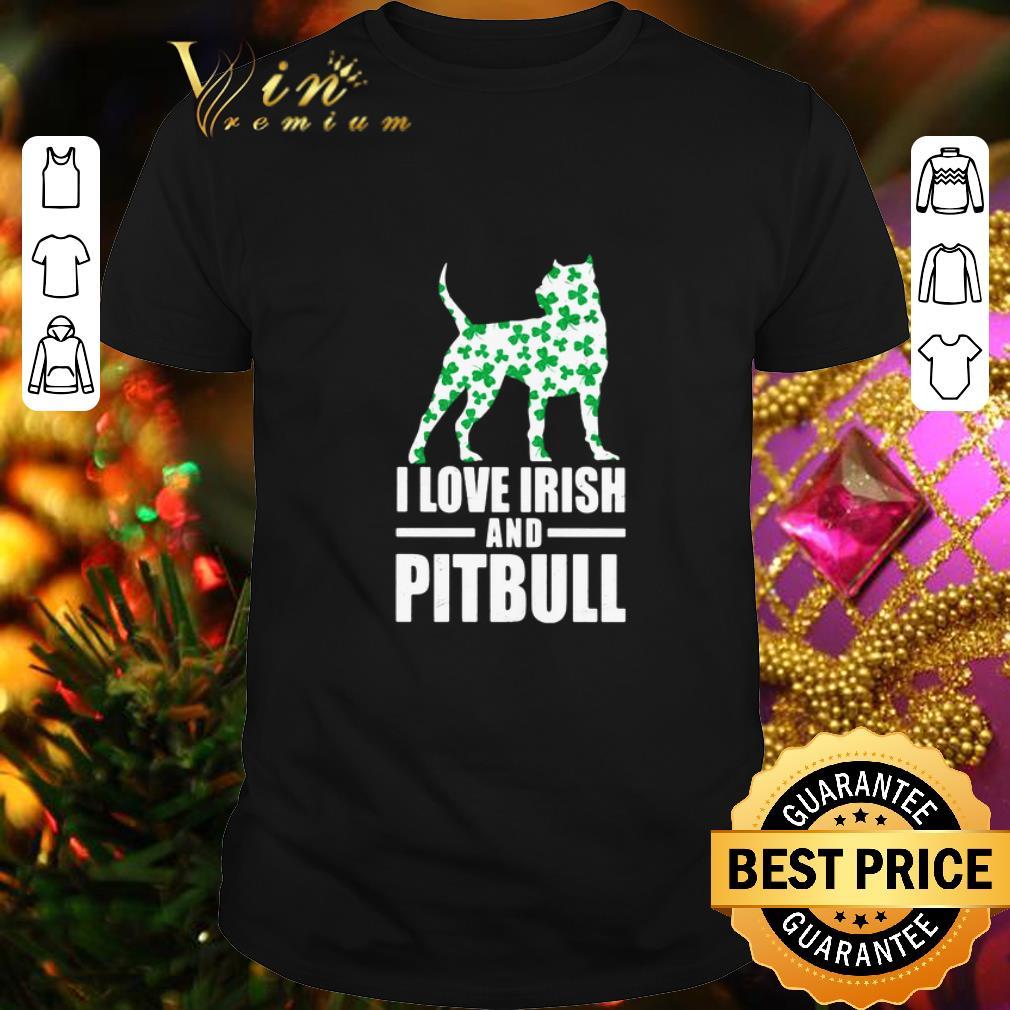 Clickbuypro Unisex Tshirt St Patricks Day I Love Irish And Pitbull Shirt Sweater Navy 3xl